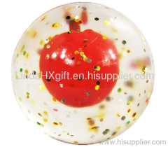 3D Bouncing ball with glitter