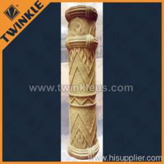 carved decorative stone pillar