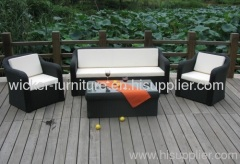 Outdoor wicker furniture sofa set with 4pcs