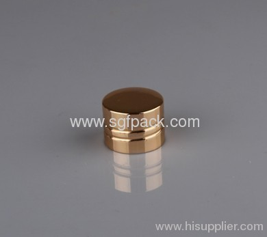 20/410 aluminum cap cosmetic container screw cap gold color inner pp cap 2013 new products