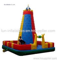 commercial inflatable rock climbing wall