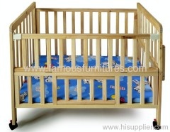 green environmental wooden baby bed