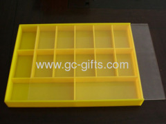 14-compartment acrylic boxes with clear lid