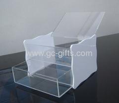 Fliptop acrylic storage boxes