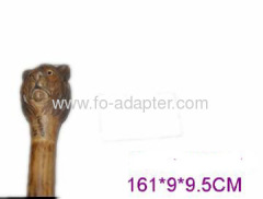 Lion Carved Wooden Walking Sticks
