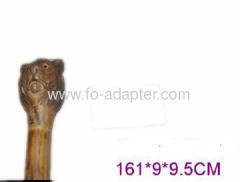 Lion Carved Wooden Walking Sticks
