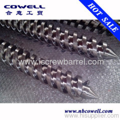 Twin conical screw barrel antiwear grade