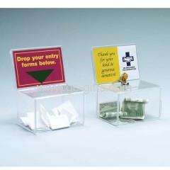Clear acrylic coin banks