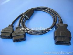 OBD2 Cable J1962M to 2 J1962F