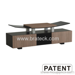 Wood & Tempered Glass TV Stand