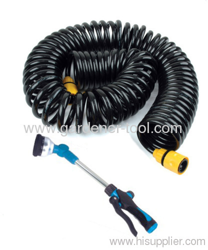 10M Garden Coil Hose With 1610-dail Function Water Wand