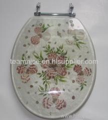 polyresin toilet seat cover seashell toilet seats