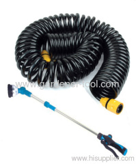 50FT Garden Coil Hose With water wand.