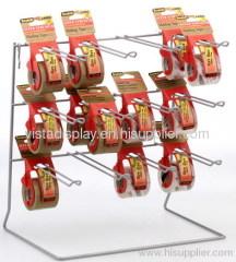 Metal Wire display rack with hooks,tabletop display stand