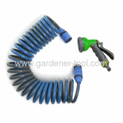 10M Colorful Garden Recoil Hose With Spray Nozzle