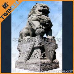 House decorative stone lion statue