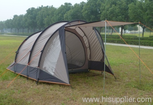 Tunnel camping tent for 4 person