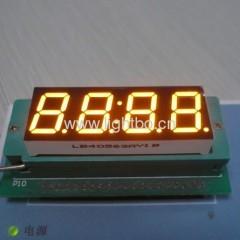 четырехзначный 0,56 дюйма %2814.2mm%29 Общий анод ультра яркий Янтарный 14 булавки 7-сегментный светодиодный дисплей