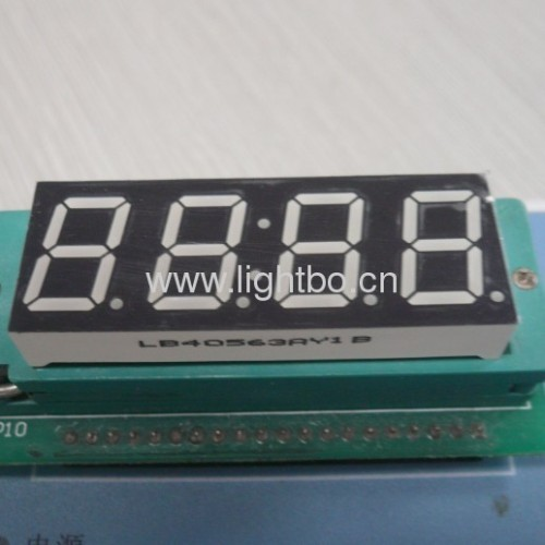 Four-Digit 0.56 inch (14.2mm) Common Anode Ultra Bright Amber 7-Segment LED Display