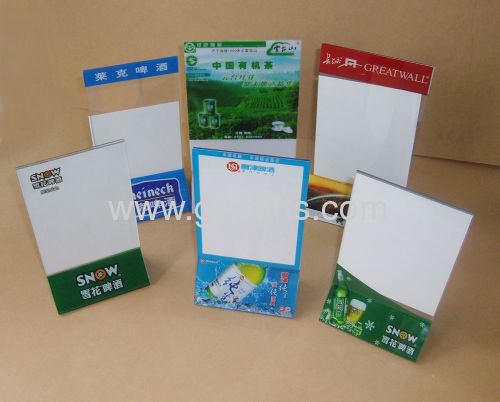 Cheap Plastic Table Tents From China Manufacturer Shenzhen Gold - Cheap table tents