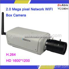 2.0 Mega pixel Network WIFI Box Camera