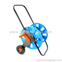 Plastic Water Hose Reel Cart For 45M of 13MM I.D.PVC Hose