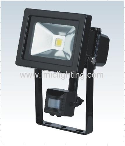 10W COB LED Floodlight with PIR sensor