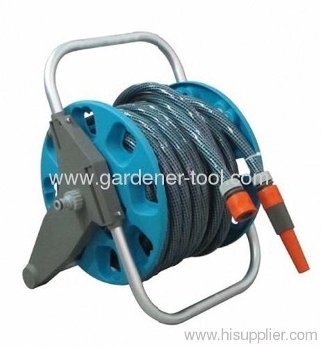 Plastic Portable Garden Hose Reel With Hose Set