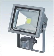 Silver or Black finish 20W COB Sensor LED Floodlight