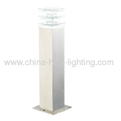 LED Garden Lamp IP44 Crystal Diffuser with Steel Stainless