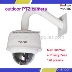 outdoor vandal proof PTZ camera