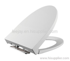 white quick release Toilet Seat with soft close toilet seat hinges