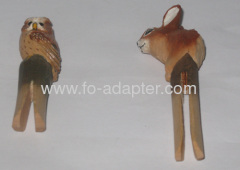 Cute carved Wooden Animal Clip