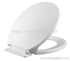 Round toilet seat cover with soft close hinges