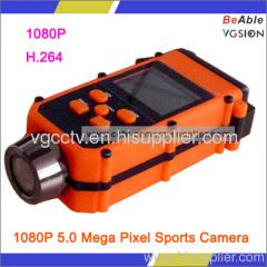 1080P 5.0 Mega Pixel Sports Camera