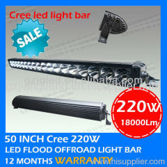Heavy truck led driving headlight cree 220w led off road light bar for tractor