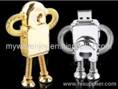 metal robot usb drive