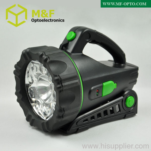 rechargeable led portable spotlight with 1halogen lamp