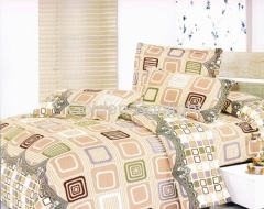 Polyester microfiber colorful design bedding sets 3pcs-4pcs