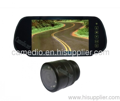7inch rear view mirror camera system