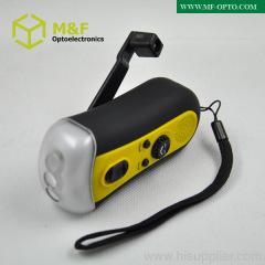 high power dynamo hand crank flashlight radio