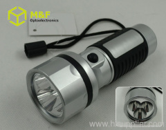 plastic durable aa battery led flashlight
