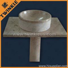 upright granite stone basin