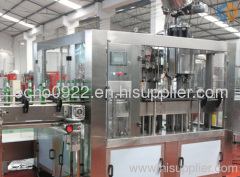 Glass Bottle Washing Filling Capping Machine