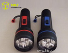 3LED D battery flashlight
