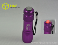 aaa battery led flashlight with warning function