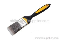 flat style sinthetic fiber soft comfortable grip handle painting brush