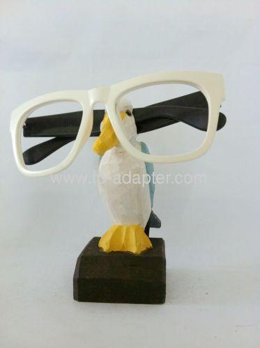 Bird Shape Wooden carved Eyesglass Holder