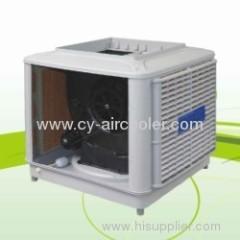 Top discharge evaporative air cooler