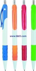 Promotional ballpoint pen with rubber grip